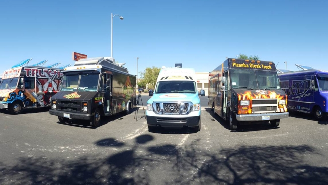 Taco Trucks Form 'Wall' at Trump's Vegas Hotel