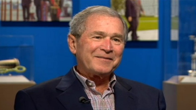 George W. Bush Takes Ice Bucket Challenge
