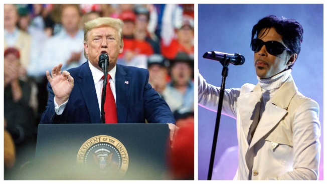 Prince Estate Slams Trump Use of 'Purple Rain'