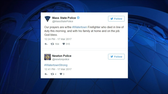 Massachusetts Police, Fire Departments Respond to Watertown Firefighter's Death