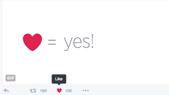 Twitter Ditches 'Favorite' Stars, Adds Hearts for Likes