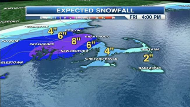 Storm Could Drop 1/2 Foot of Snow in Some Areas on Friday
