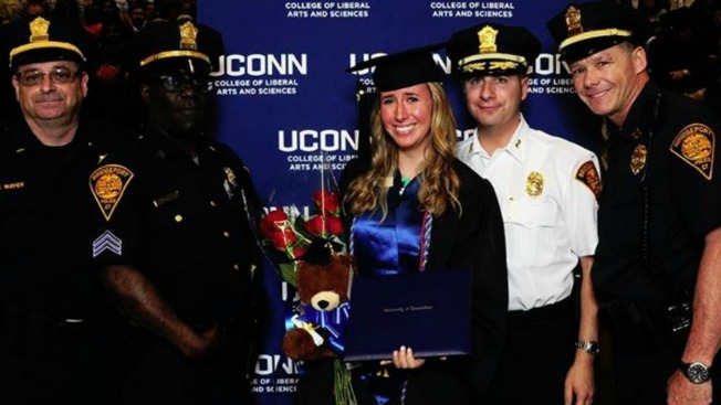 Police Attend Graduation of Late Officer's Daughter