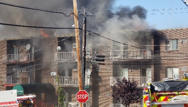 5-Alarm Fire in Revere