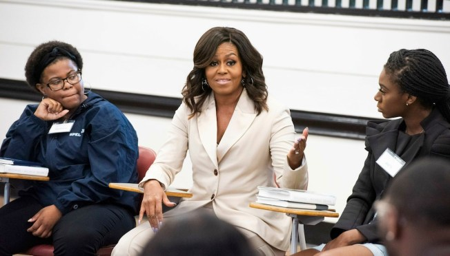 Michelle Obama Surprises Students to Talk About Her Memoir