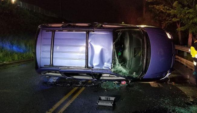 Driver Injured in Chelsea Rollover Crash