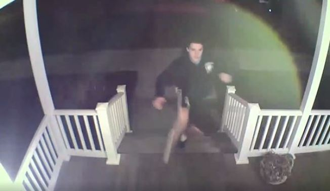 Police Looking for Man Caught on Camera Damaging Longmeadow Home