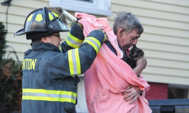 Couple, Family Cat Rescued After Kitchen Fire in Brockton, Mass.