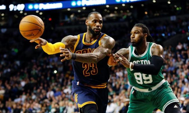 LeBron, Love help Cavs rout Celtics 117-104 in Game 1