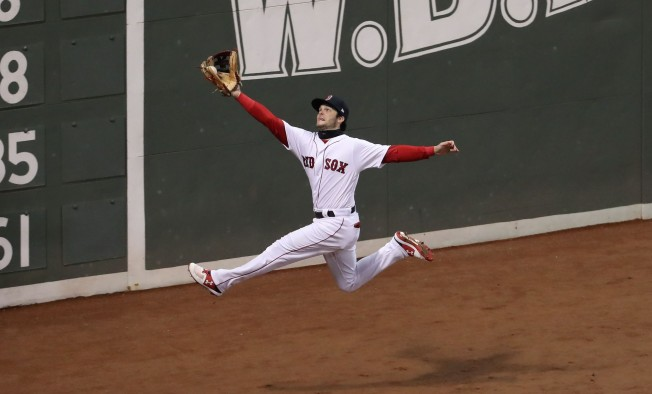 WATCH: Andrew Benintendi's Unbelievable Leaping Game 2 Catch