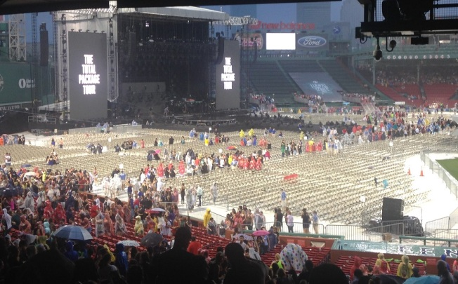 Storm Temporarily Halts Fenway Concert