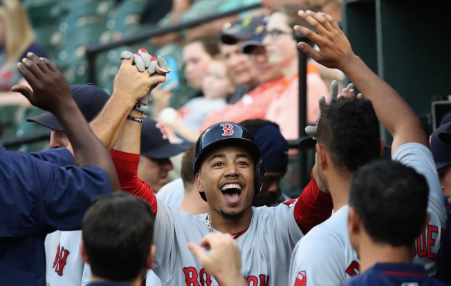 Betts' Bat Keeps Crushing