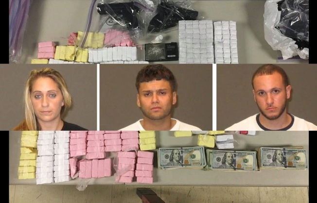 17,000 Bags of Heroin Found in Early Morning Raid, Three Arrested
