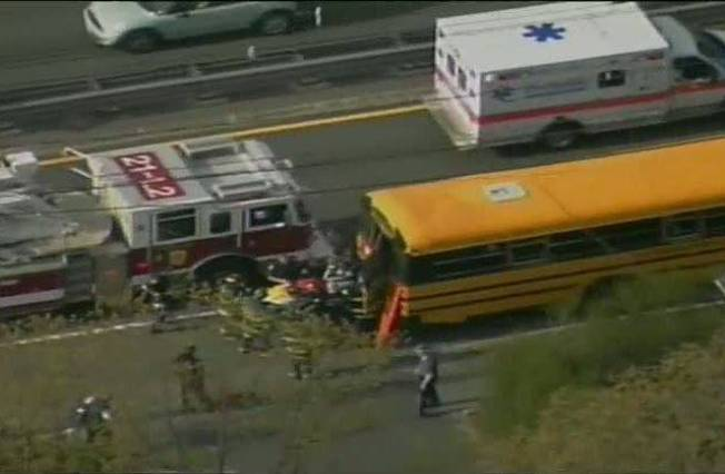 School Bus Involved in Accident in Newton, Mass.