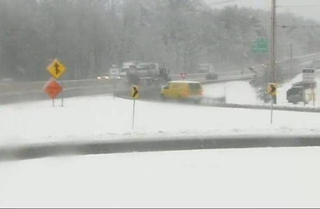 Winter Mess Causes Traffic Trouble in New England