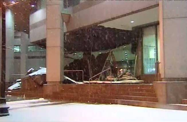 Weather Causes Roof Collapse in Boston