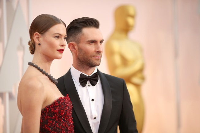 Adam Levine and Behati Prinsloo Share First Photo of Dusty Rose