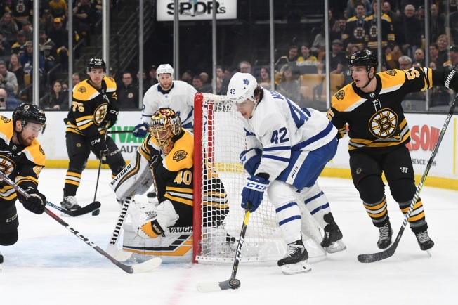 Despite Early Bergeron Goal, Bruins Fall to Toronto in Game 1