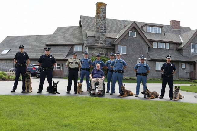 George H.W. Bush Crashes Maine State Police Photo