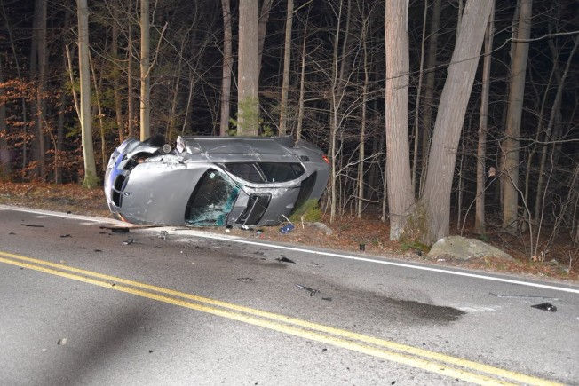 Driver Injured in Single Car Rollover Crash in Cohasset