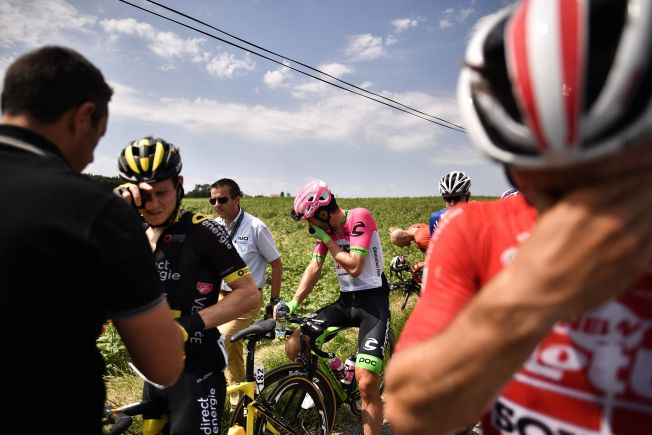 Riders Sprayed With Tear Gas as Protesters Interrupt Tour de France