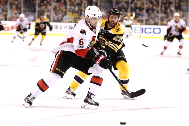 Senators Beat Bruins 2-1 in Shootout to Pull Ahead in Chase