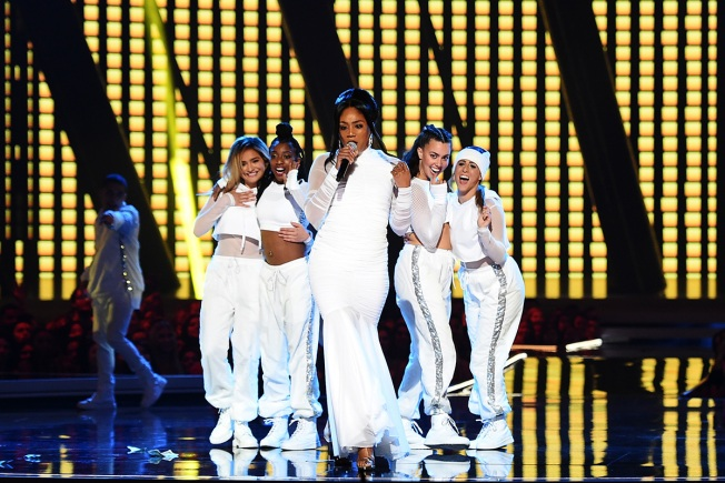 Tiffany Haddish Recreates Cardi B 'SNL' Baby Bump Performance at MTV Awards