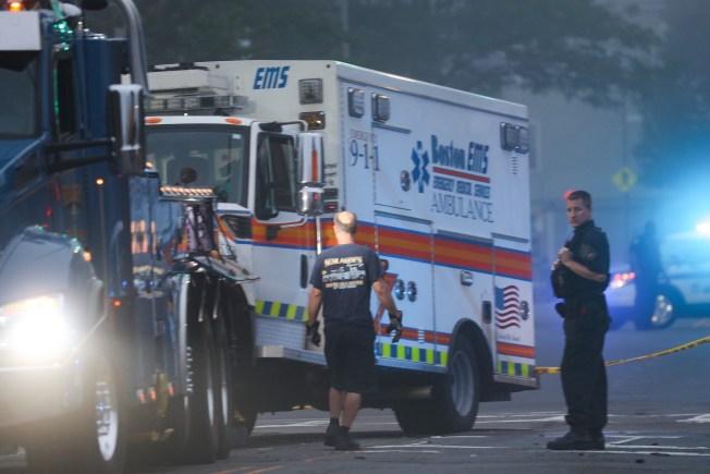 Ambulance Involved in Crash in Boston; Four Injured
