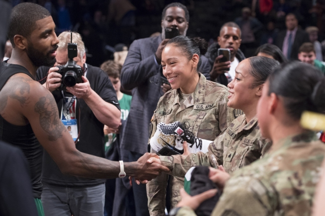 Kyrie Irving Delivers Grand Assist to Military Members Following Win
