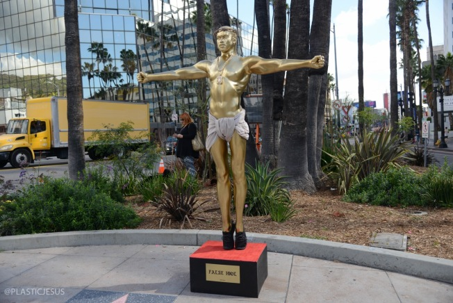 Kanye West Crucifixion Statue Unveiled on Hollywood Boulevard