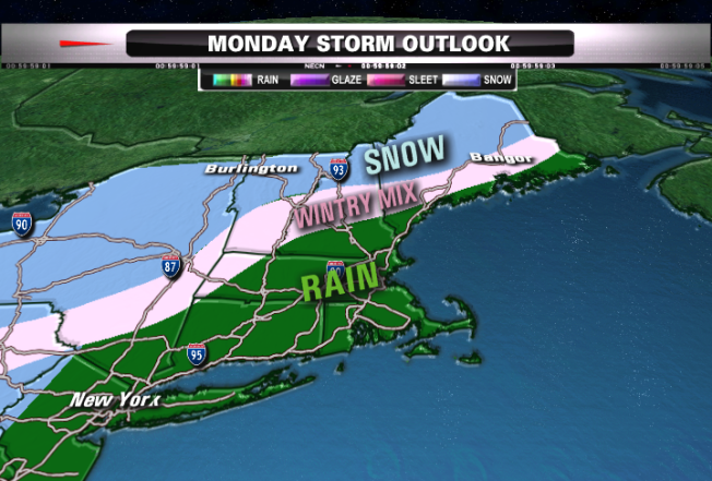 Storm to Impact New England Monday