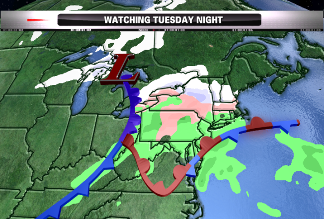 Wintry Mix Likely for New England This Week