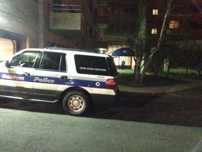 Police Searching Apartment in Boston Suburb