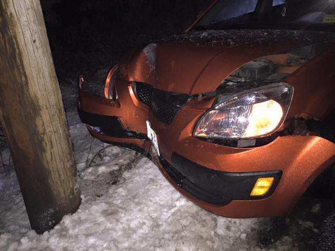 Cars Spin Out, Slide Off Slippery Roads in NH, Maine