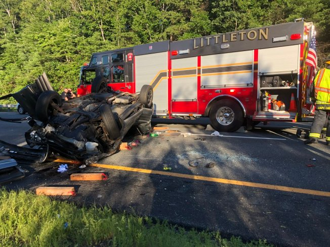 Person Airlifted After Crash on I-495 in Littleton