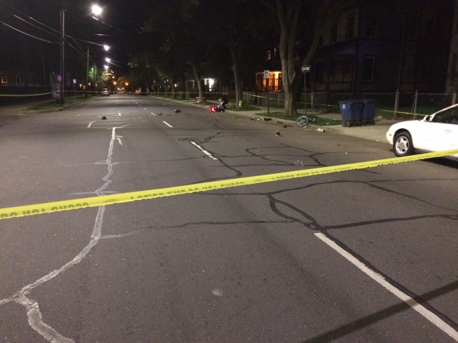 Bicyclist in Critical Condition After Crash With Motorcycle