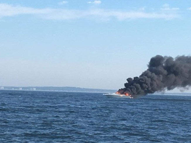 Boat Sinks Because of Fire Near Saco River, Maine