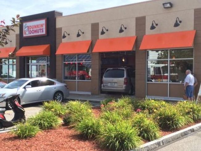 Van Crashes Through Dunkin' Donuts, Causing Injuries