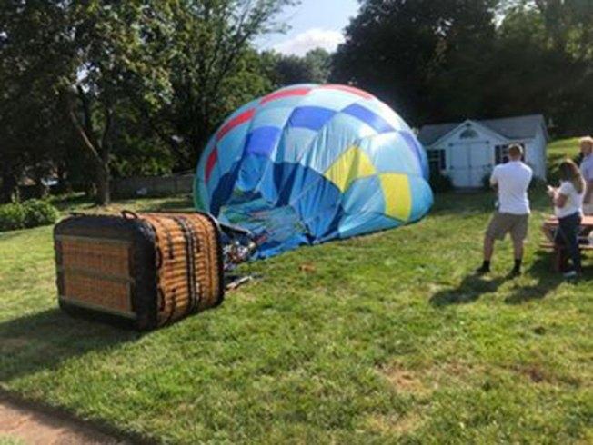 Hot Air Balloon Lands in Connecticut Backyard