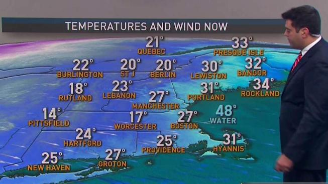Cold Air Swings in With Biting Wind Chill - NECN