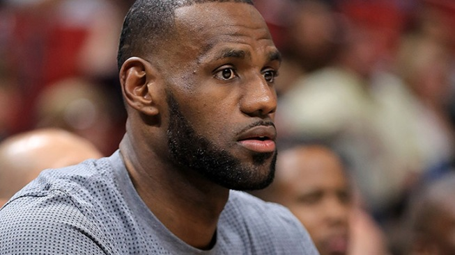 NBA star LeBron James' property in LA vandalized with racial slur