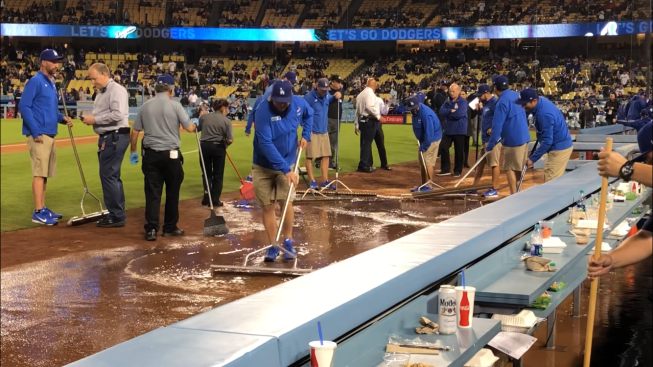 'It Smelled': Game Cut Short Due to Pipe Leak at Dodger Stadium