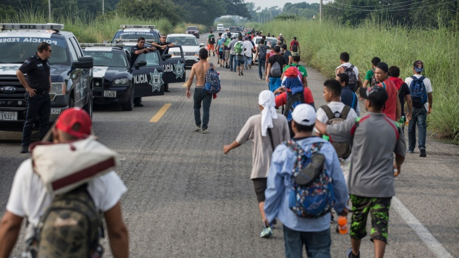Migrant Caravan Rests; 2nd Group Seeks Entry Into Mexico