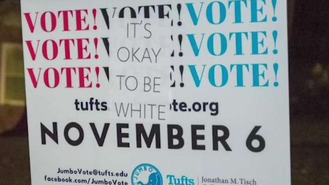 it s okay to be white flyers appear at tufts university necn