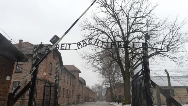 Naked Group Stages Disruption by Notorious Auschwitz Gate