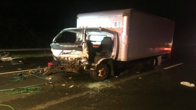 Driver Pulled from Truck After Crash on I-84