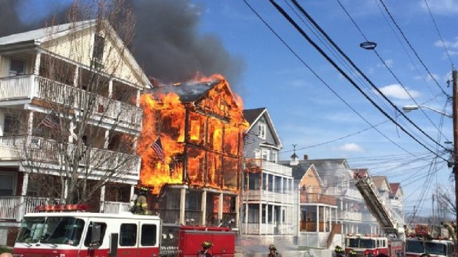 Fire Captain Critically Injured in Massive Triple-Decker Fire in Providence, Rhode Island