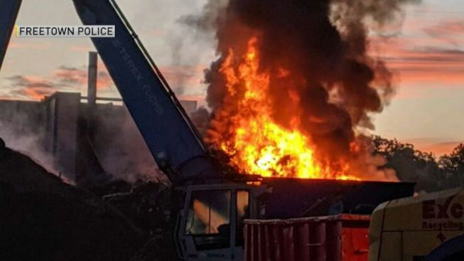 Crews Battle Fire at Recycling Plant in Freetown