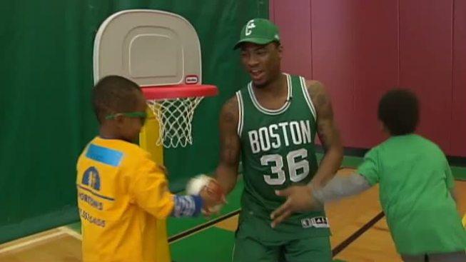 Horizons for Homess Children: Boston Celtics Visit Kids