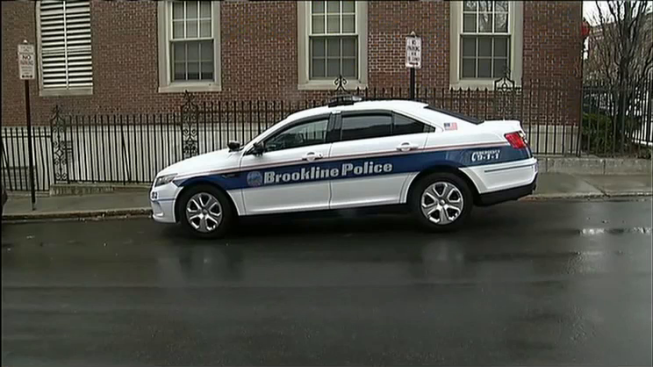 Brookline Police Officer Injured in Crash